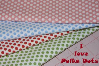 Polka dot fabric picture