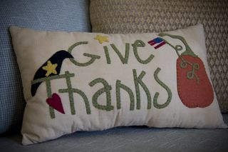 092110 give thanks pillow