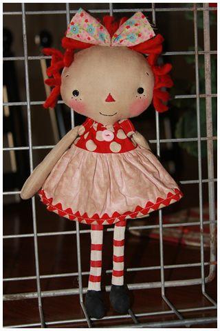 011311 ROA1-13 Red Pink Polka Dot Tiny Annie