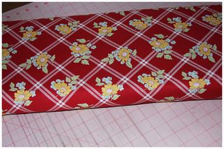 052511 Red Floral Fabric