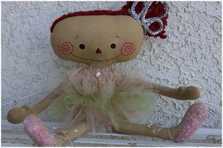 091611 ROA9-29 Ballerina Annie Pink Green Tutu
