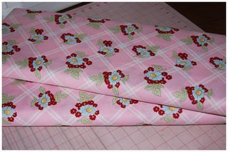 052511 Pink Floral fabric