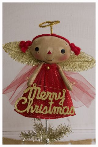ROA11-05 Tiny Topper Red Dot Gold Wings